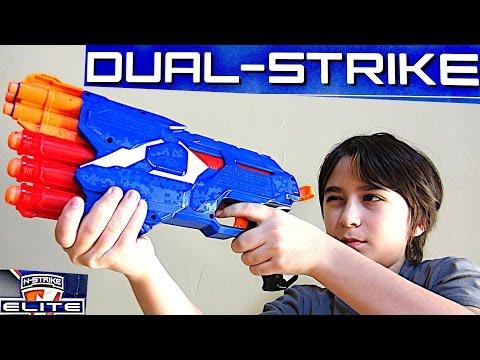 NERF N-Strike Elite Dual-Strike Blaster with Robert-Andre!