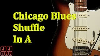 Chicago Shuffle In A - 12 Bar Blues Backing Track In A