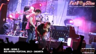 BLUR - SONG 2 ( Climax ) live at Big Sound Festival Jakarta, Indonesia 2013