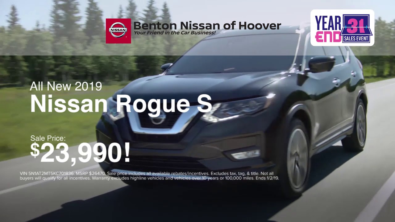 Benton Nissan Hoover >> Benton Nissan Of Hoover 2019 Altima And Rogue