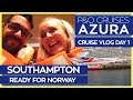P&O Azura | Breakfast in Southampton, Boarding the Ship & Sail Away | P&O Cruises Vlog Day 01