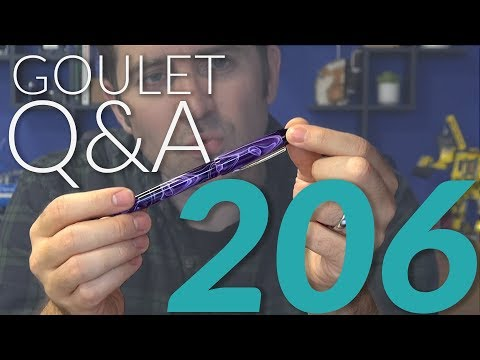 Goulet Q&A 206: Impressive Looking Pens, Stone Paper, and Fountain Pen Jokes!