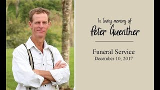 Peter Guenther Funeral Service Live | Dec. 10, 2017