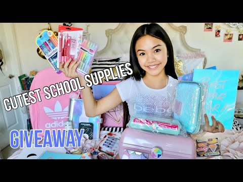 CUTEST BACK TO SCHOOL SUPPLIES GIVEAWAY!