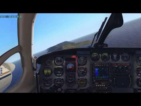 X-Plane 11 - Carenado PA31 Navajo - Grande Anse La Desirade (TFFA) landing - xEnviro - TrackIR