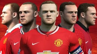 Rooney from FIFA 04 to 15 (Face Rotation and Stats)
