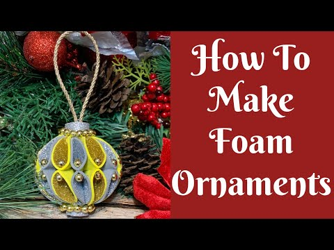 Christmas Crafts: How To Make Foam Sheet Ornaments