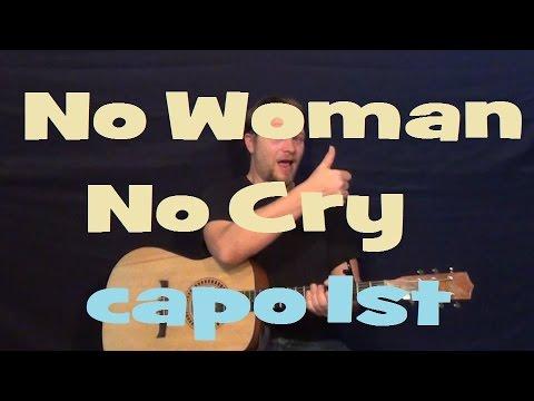 No Woman No Cry (Bob Marley) Easy Strum Guitar Lesson Chord How to ...