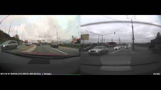 Тест автомобильного видеорегистратора VisionDrive VD-1500MG с GPS и G-сенсором