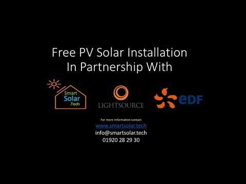 Free PV Solar system - Free Battery Storage Free energy Management System Installed