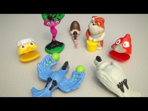 RIO 2 BURGER KING KID'S MEAL 2014 TOY COLLECTION VIDEO REVIEW