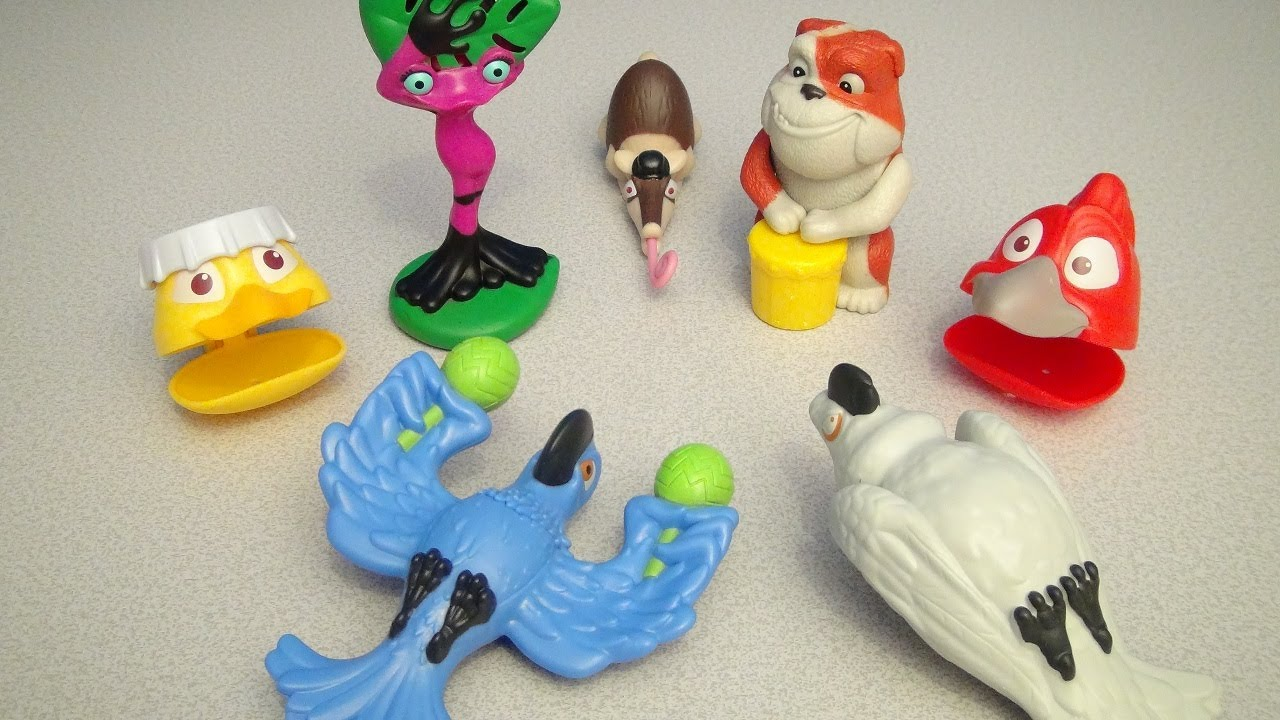 rio 2 burger king kids meal 2014 toy collection video