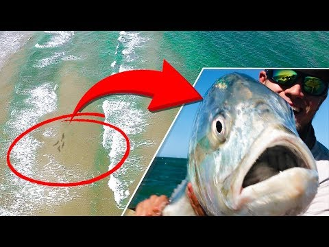 Drone found these fish at the beach surf fishing youtube for Drone surf fishing