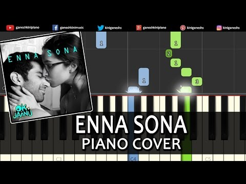 Enna Sona OK Jaanu|A R Rahman|Song|Piano Chords Tutorial Lesson Instrumental Karaoke By Ganesh Kini