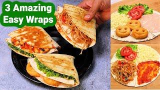 3 Amazing Veg Wraps | Trending Veg Wraps जिसे खाकर लोग आपकी तारीफ करे | Wrap Hacks | KabitasKItchen