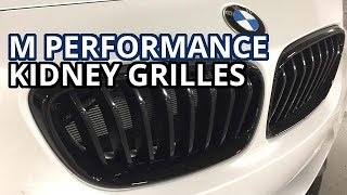AGGRESSIVE LOOKS! - M Performance Black Kidney Grilles Install //BMW M240i