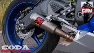 Yamaha YZF-R6 Akrapovic exhaust sound - CMV