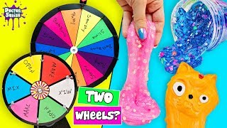 DOUBLE Wheel Of Squish! Making Squishies And Mixing Slime! Doctor Squish