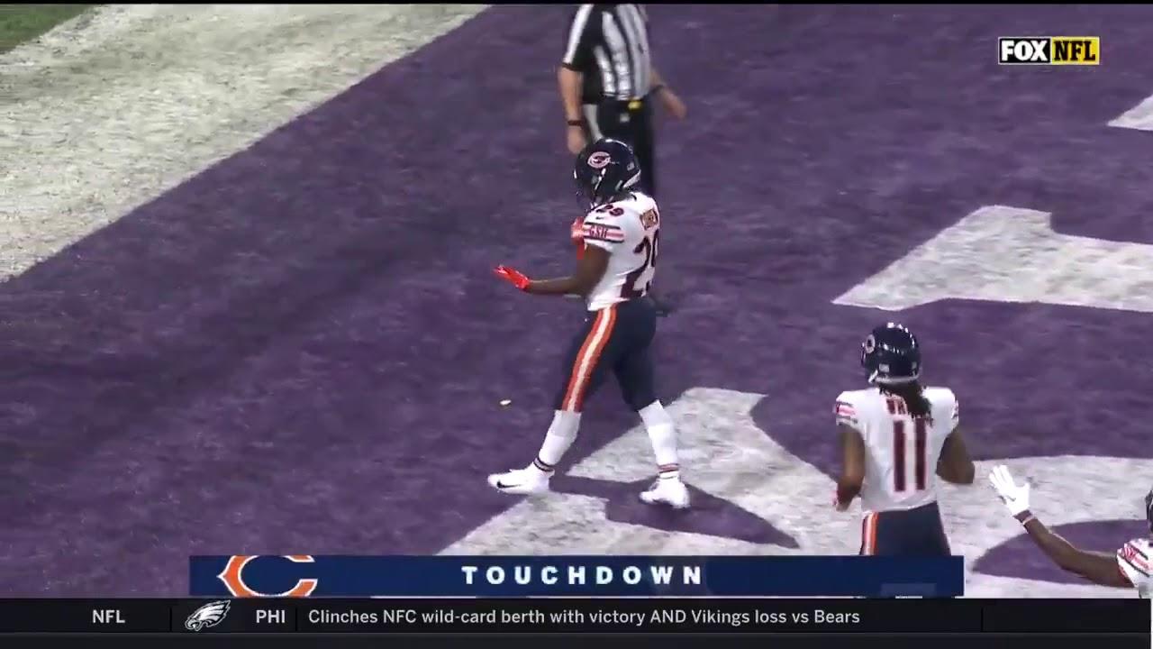 Tarik Cohen touchdown - Bears @ Vikings NFL 2018