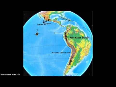 Landforms of Latin America and the Caribbean