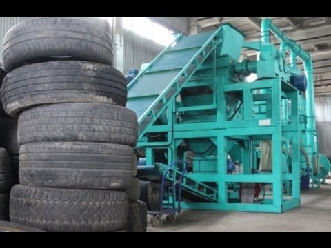 Tire recycling equipment crumb rubber waste tire for Tractor tire recycling