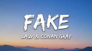 Download Lauv & Conan Gray - Fake (Lyrics)