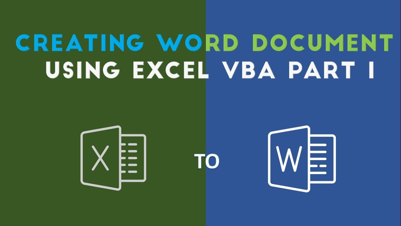 Create and Add Text to Word Document with Excel VBA - YouTube