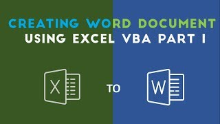 Create and Add Text to Word Document with Excel VBA