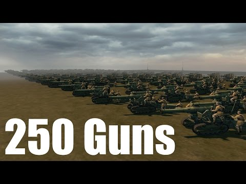 The Largest Artillery Barrage 250 Guns Companyofheroes