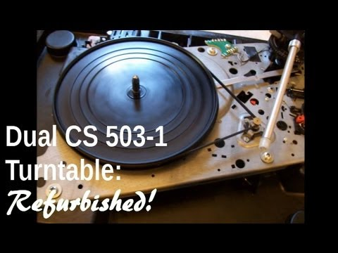 Dual Cs 503 1 Turntable Complete With Spiders Before