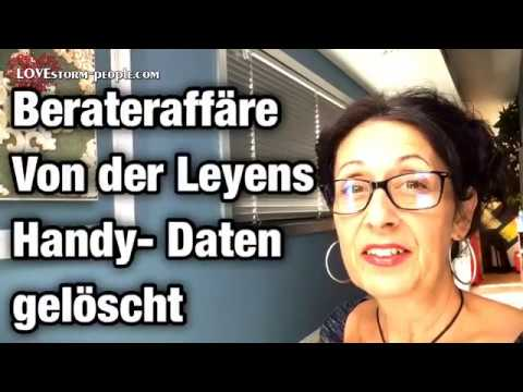 VON DER #LEYEN - HANDY DATEN GELÖSCHT- #BERATERAFFÄRE -  #VONDERLEYEN  #Kommissionspraesidentin #EU
