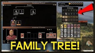 FAMILY TREE + NEW CHARACTER INTRIGUE OPTIONS - Total War: Rome 2 Gameplay