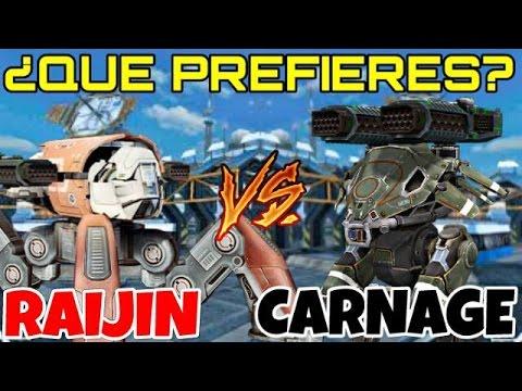 ¿QUÉ PREFIERES, RAIJIN O CARNAGE? | War Robots