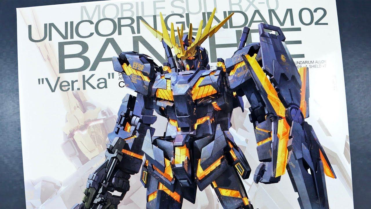 1536 Mg Unicorn Gundam 02 Banshee Ver Ka Unboxing Youtube