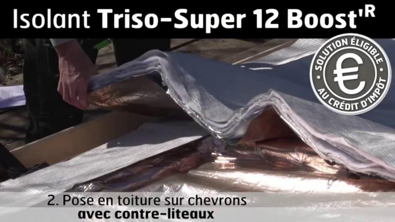 Triso super 12 boost 39 r sur chevrons avec contre liteaux - Triso super 12 ...