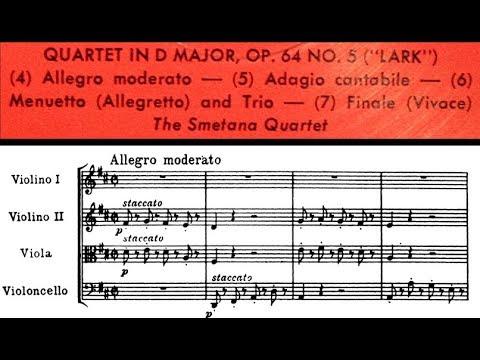 "Haydn / Smetana Quartet, 1964: The ""Lark"" Quartet (String Quartet in D major, Hob.III:63)"