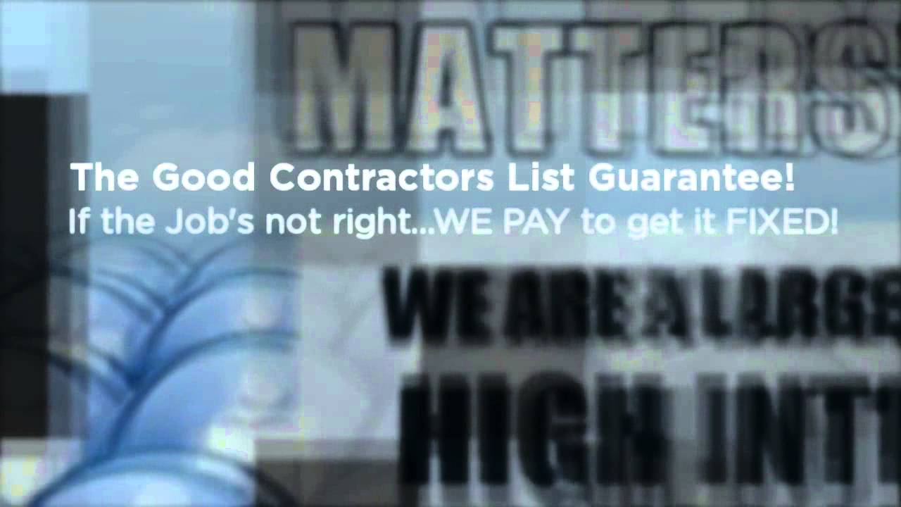 Introducing The Good Contractors List Youtube