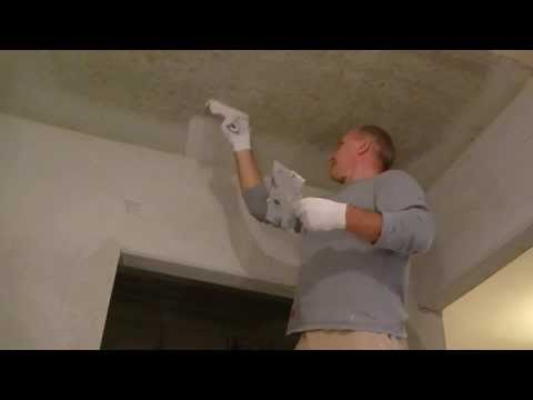 видео: Как шпаклевать потолок, ремонт своими руками