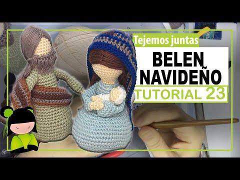 BELEN NAVIDEÑO AMIGURUMI ♥️ 23 ♥️ Nacimiento a crochet 🎅 AMIGURUMIS DE NAVIDAD!