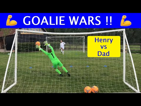 Goalie Wars: Henry Vs Dad - Who Will Win This Goalkeeping Competition ? Dad Vs Son Challenge
