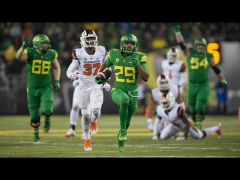 The Oregon Ducks Vs Oregon State Beavers Civil War Football Highlights