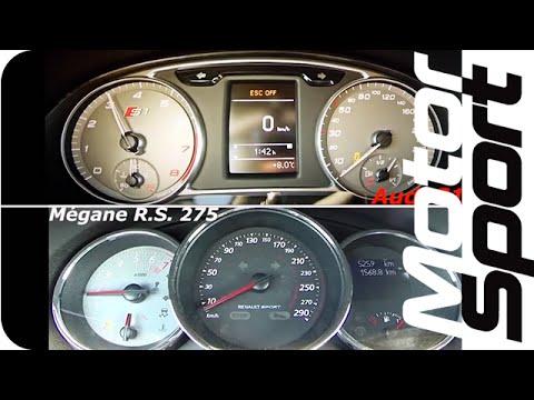 0-245 km/h : Audi S1 vs Megane RS 275 (Motorsport)