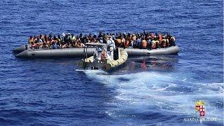 السلطات الايطالية تنقذ ستة وعشرين لاجئا من الغرق     1-5-2016