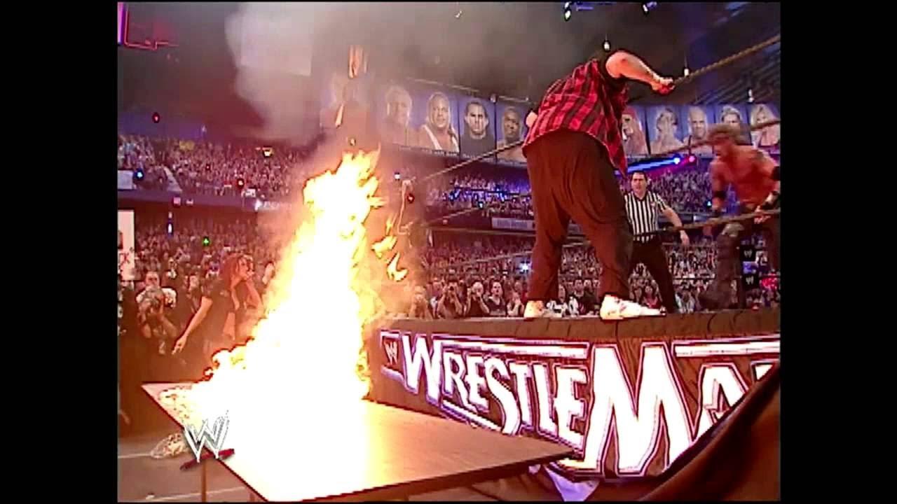 Download مباراة جنونية دموية +18 ايدج vs ميك فولى Edge vs Mick Foley   Hardcore Match HD   Wrestlemania 22