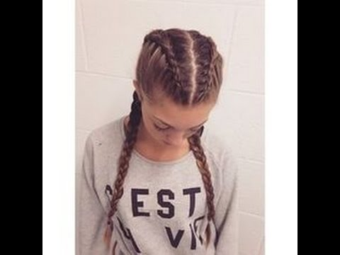 How to make two french braids by yourself youtube solutioingenieria Gallery