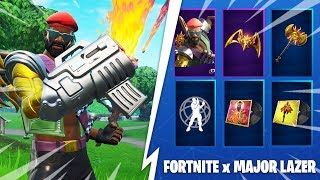 EPIC GAMES AM OFFER A SKIN NOT SORTI ON THE GAME ... (FORTNITE X MAJORLAZER)