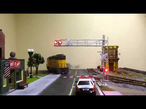 Model Railroad Toy Train Track Plans -Model train HO Crossing gate powered by Arduino
