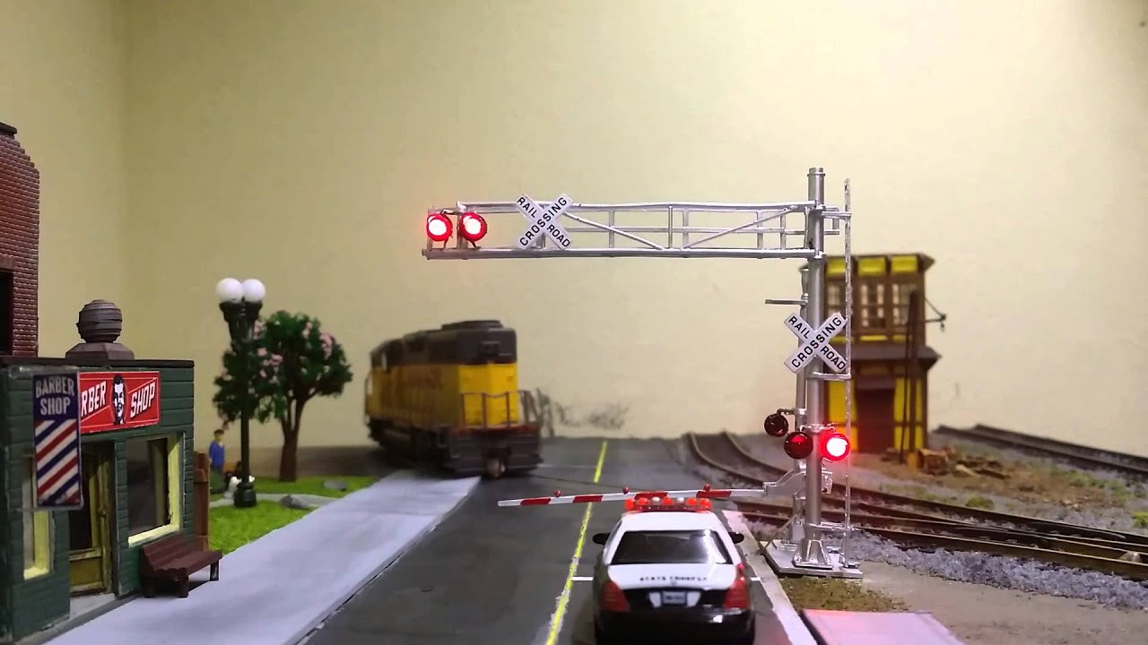 Model Train Ho Crossing Gate Powered By Arduino Youtube