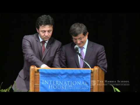 Turkish Foreign Minister Ahmet Davutoglu speaking at the University of Chicago Part 1 of 4