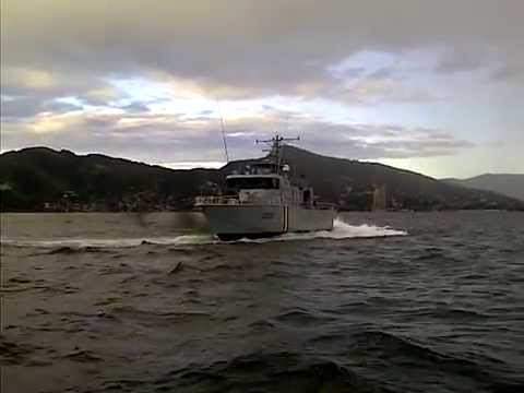 Trinidad and Tobago  Coast Guard Showing Off At Sea